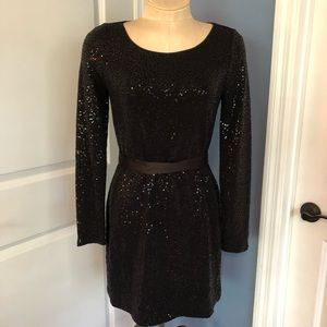 Express Long Sleeve Sequin Holiday Dress Sz S